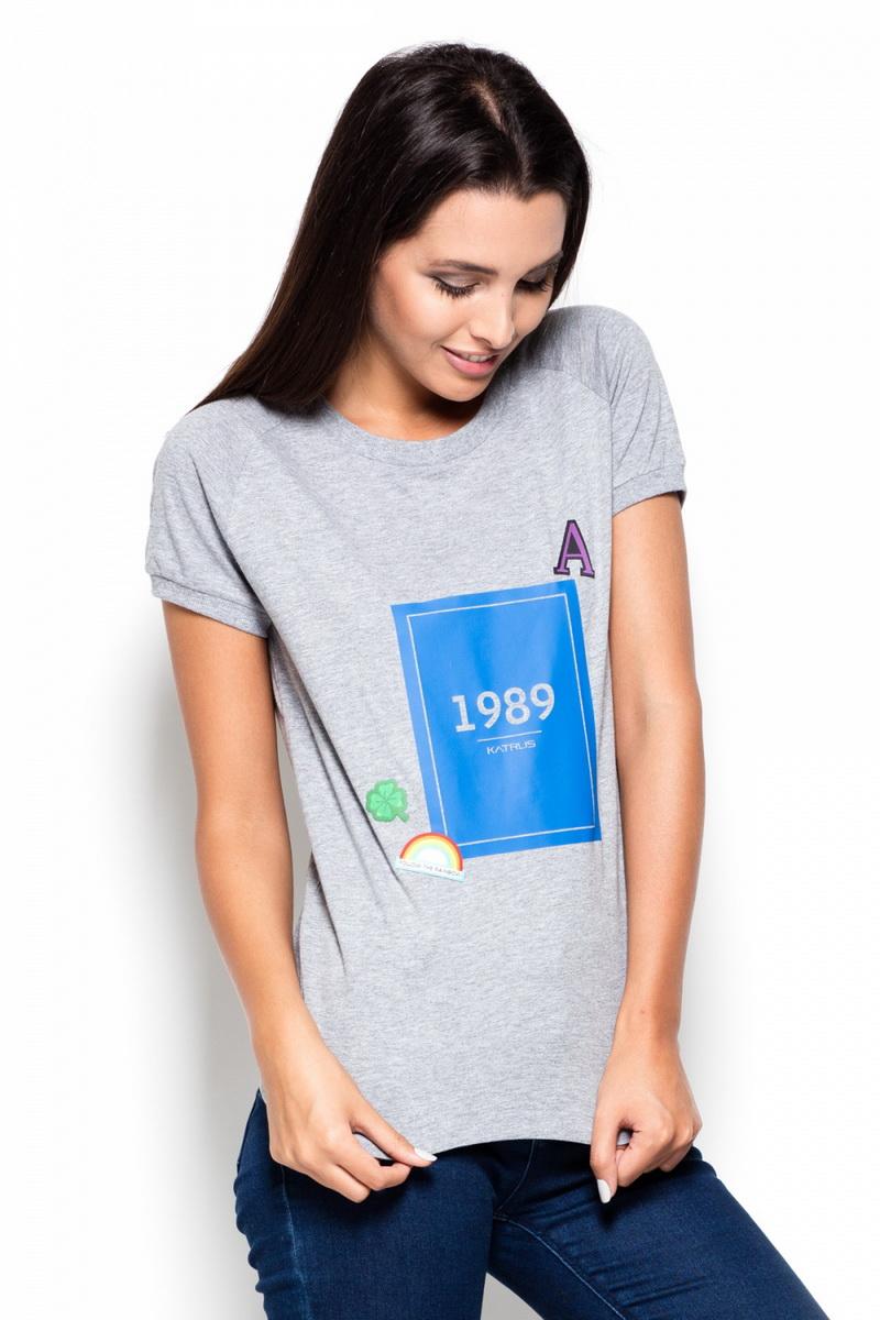 Dámské tričko Katrus K415 šedé (velikost L)