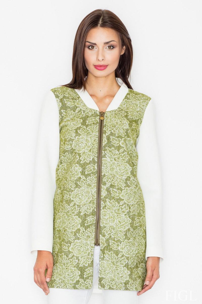 Dámský kabát Figl M513 zelený (velikost XL)