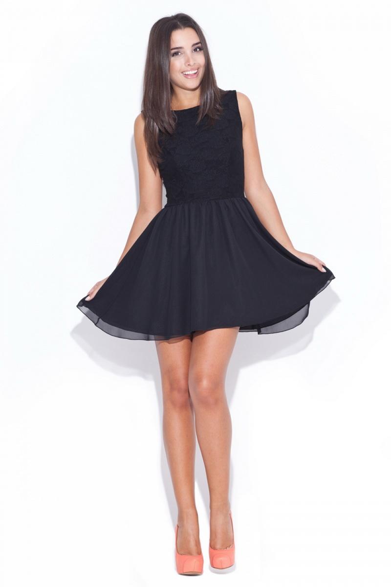 Dámské šaty Katrus K007 černé (velikost M)
