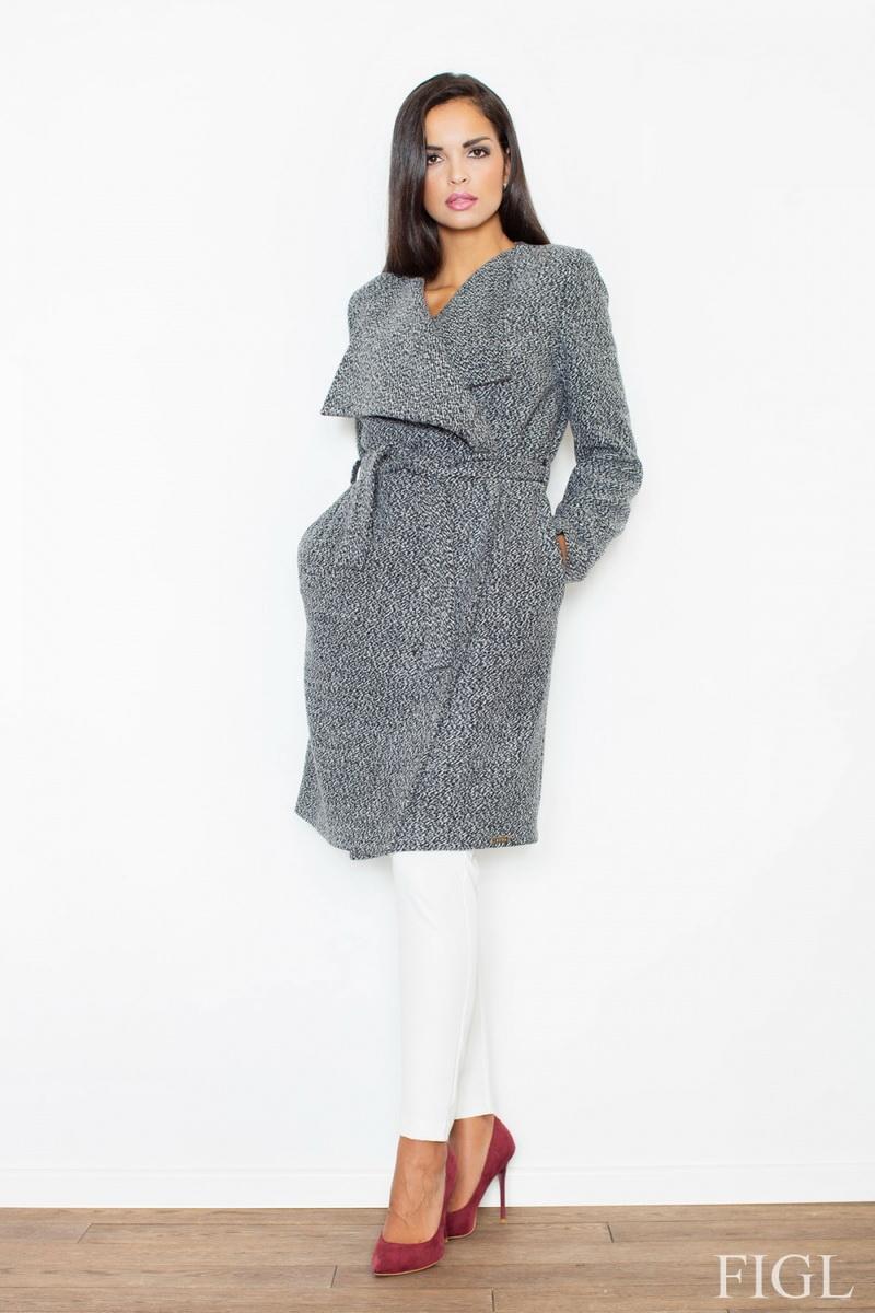 Dámský kabát Figl M408 šedý (velikost XL)