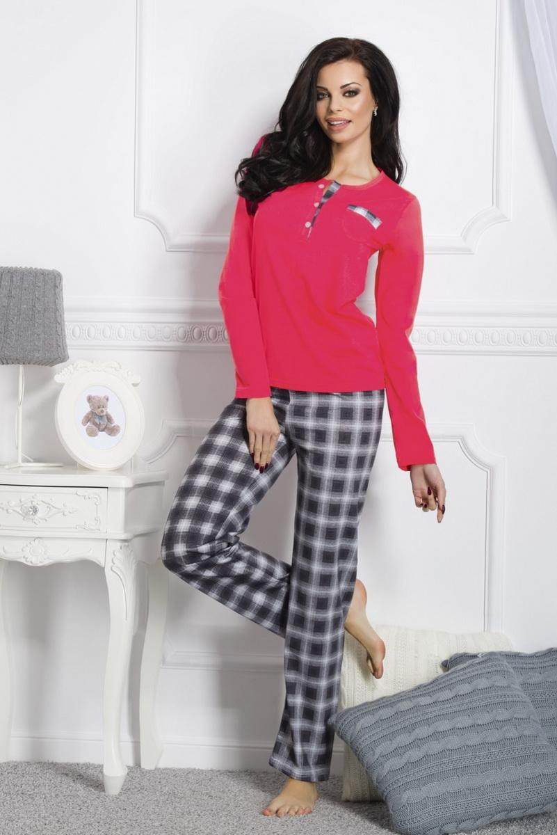 Dámské pyžamo Taro Gizela 1195 červeno-šedé (velikost S)