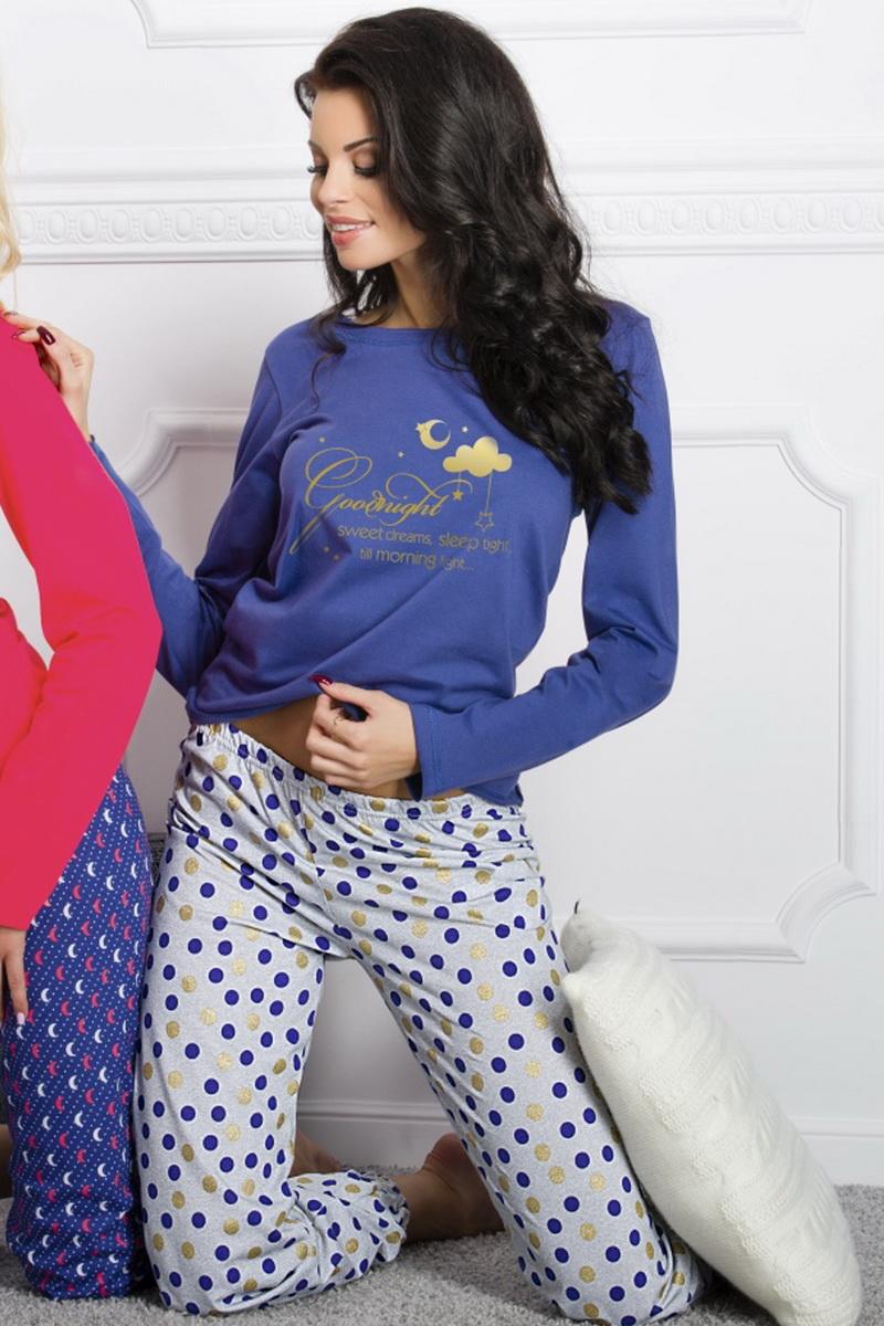 Dámské pyžamo Taro Daga 965 modré (velikost M)