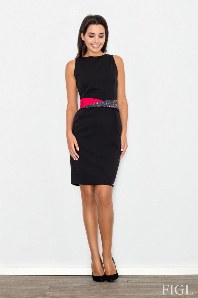 Dámské šaty Figl M534 černé (velikost S)