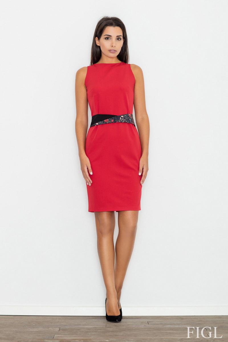 Dámské šaty Figl M534 červené (velikost XL)