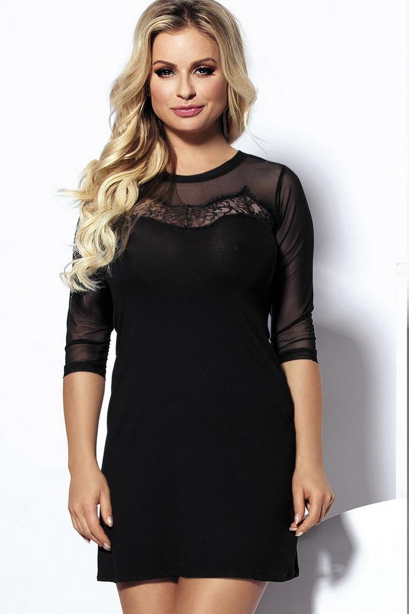 Dámské šaty DKaren Amber černé (velikost L)