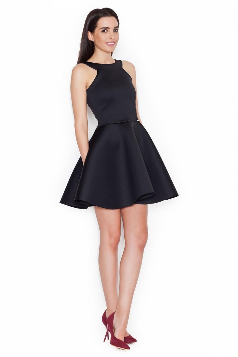 Dámské šaty Katrus K265 černé (velikost S)