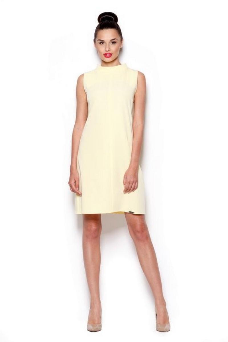 Dámské šaty Figl M299 žluté (velikost L)
