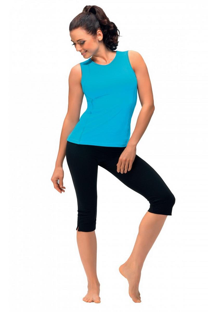 Fitness kalhoty gWinner Capri černé (velikost XL)