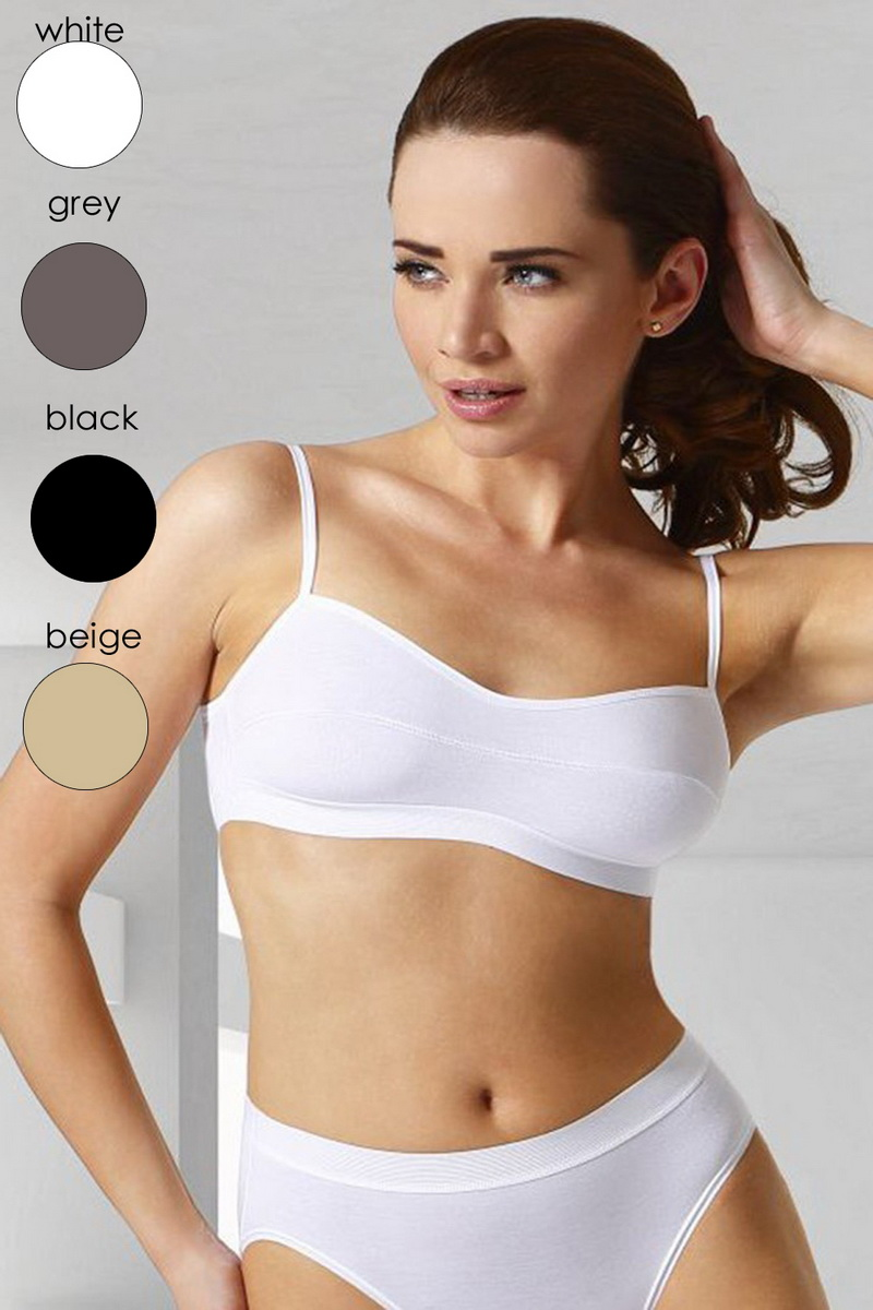 Fitness top Eldar Stella bílý (velikost M)