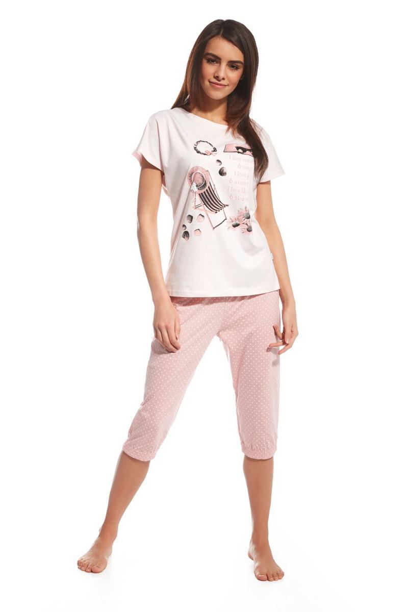 Dámské pyžamo Cornette 63872 I love summer růžové (velikost L)