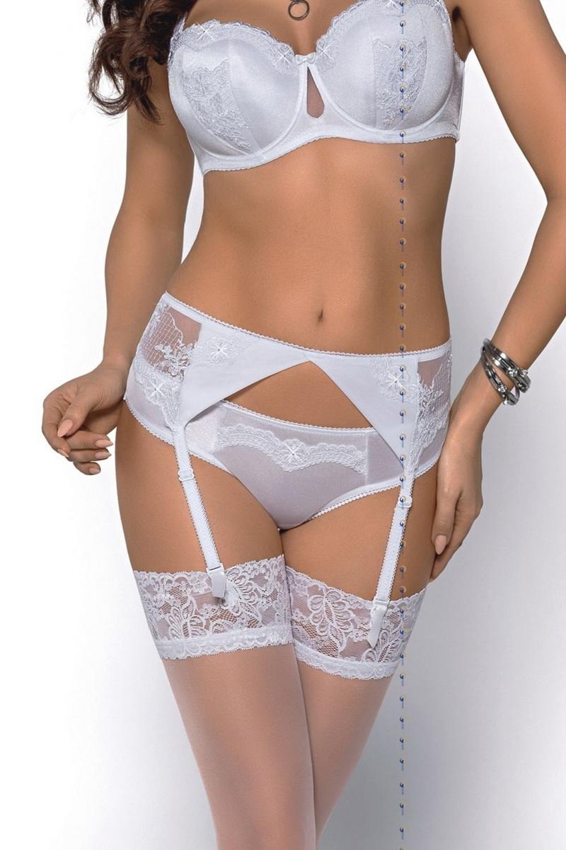 Dámské kalhotky Gorsenia Abigal 287 bílé (velikost L)