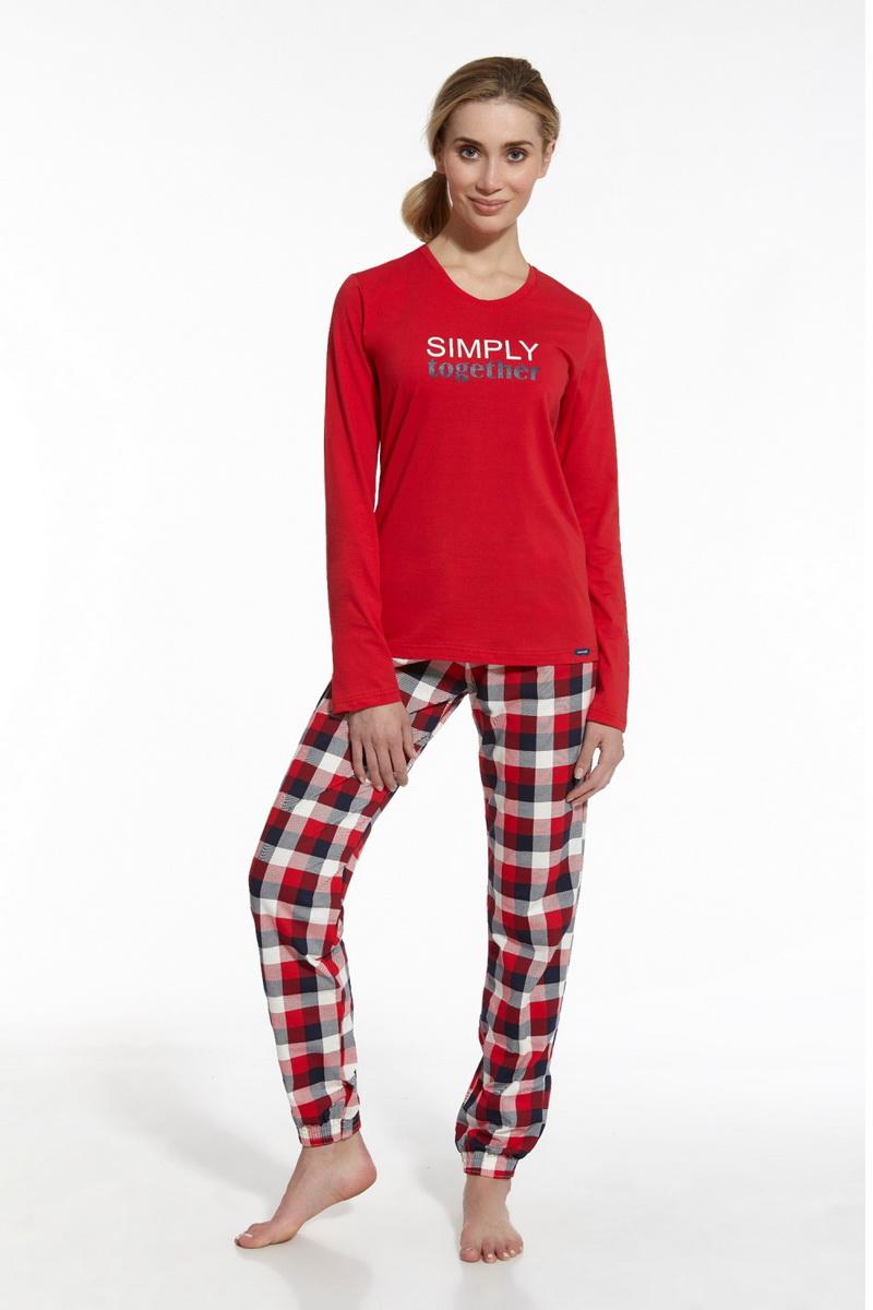 Dámské pyžamo Cornette 67342 Simply Together červené (velikost L)