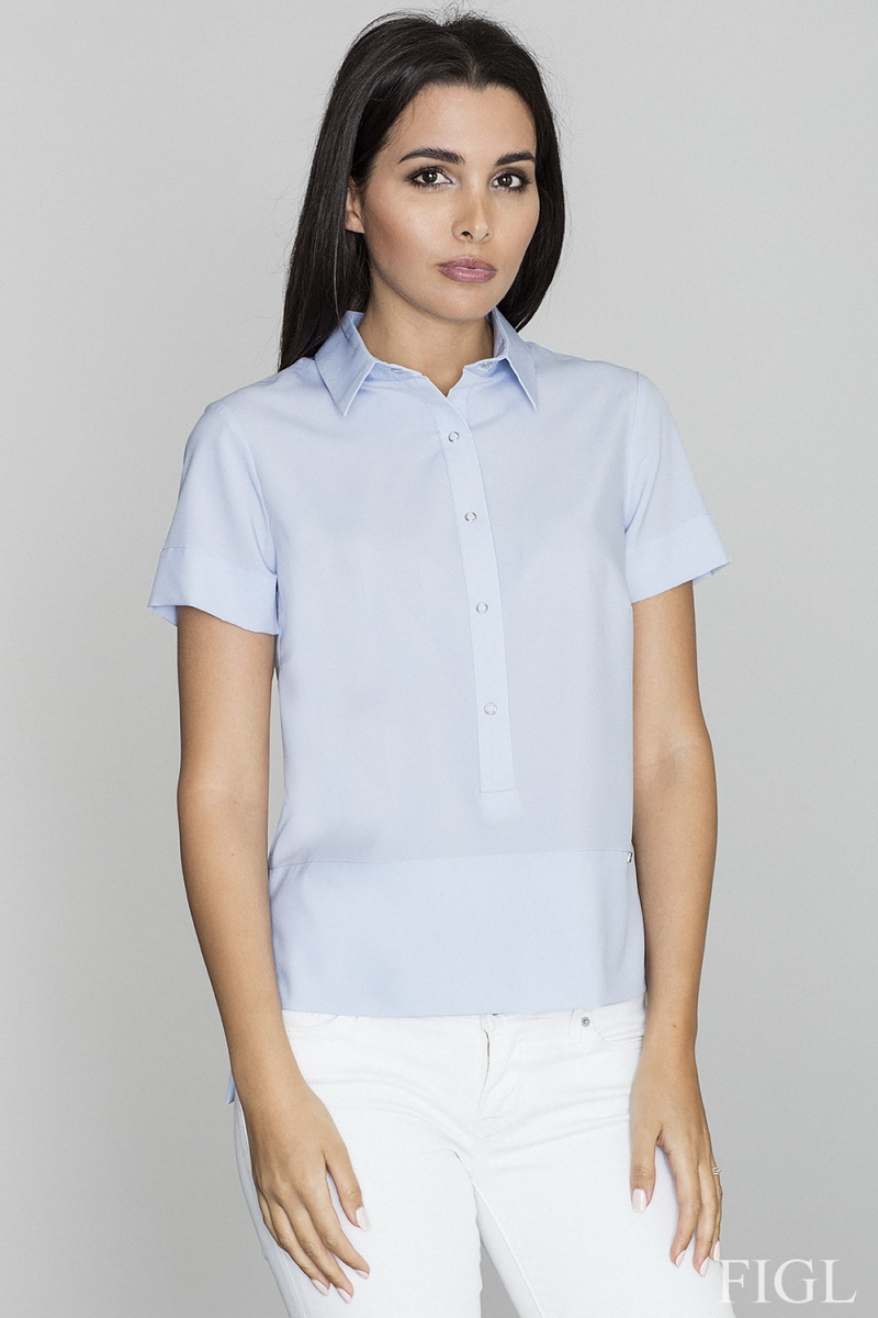 Dámská košile Figl M548 modrá (velikost S)