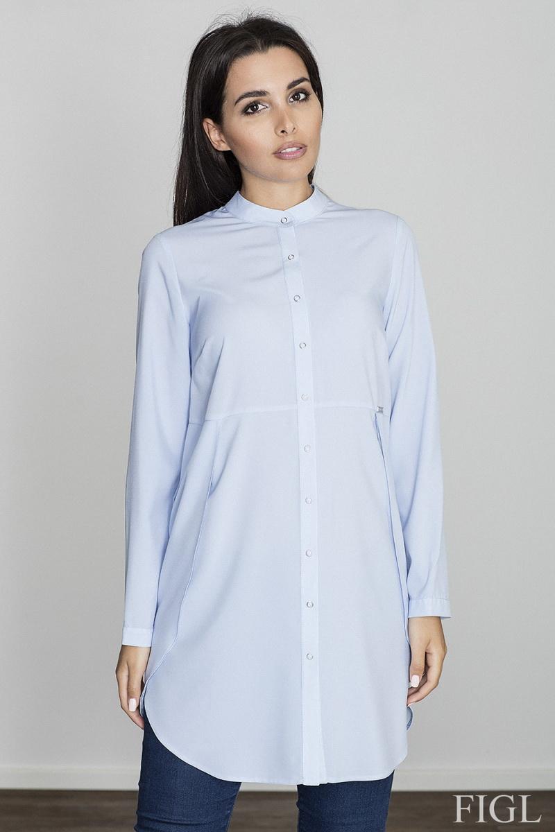Dámská košile Figl M545 modrá (velikost S)