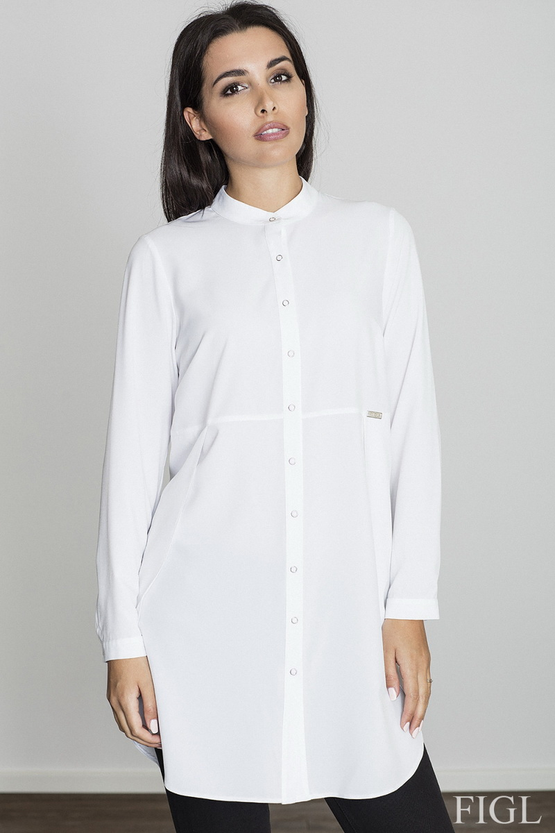 Dámská košile Figl M545 bílá (velikost S)