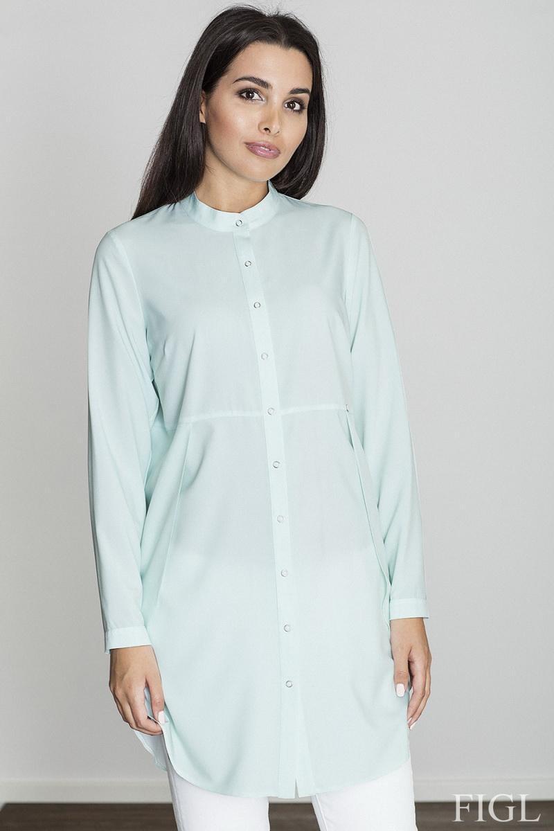 Dámská košile Figl M545 tyrkysová (velikost S)