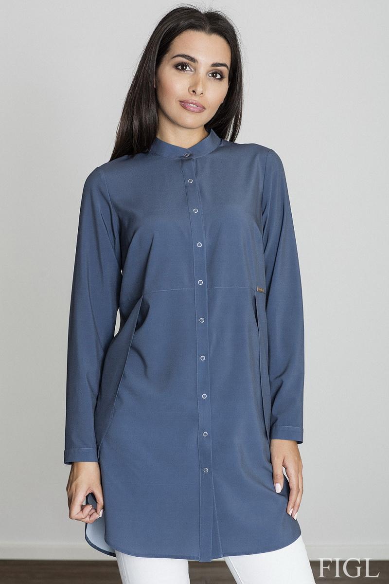 Dámská košile Figl M545 tmavě modrá (velikost S)