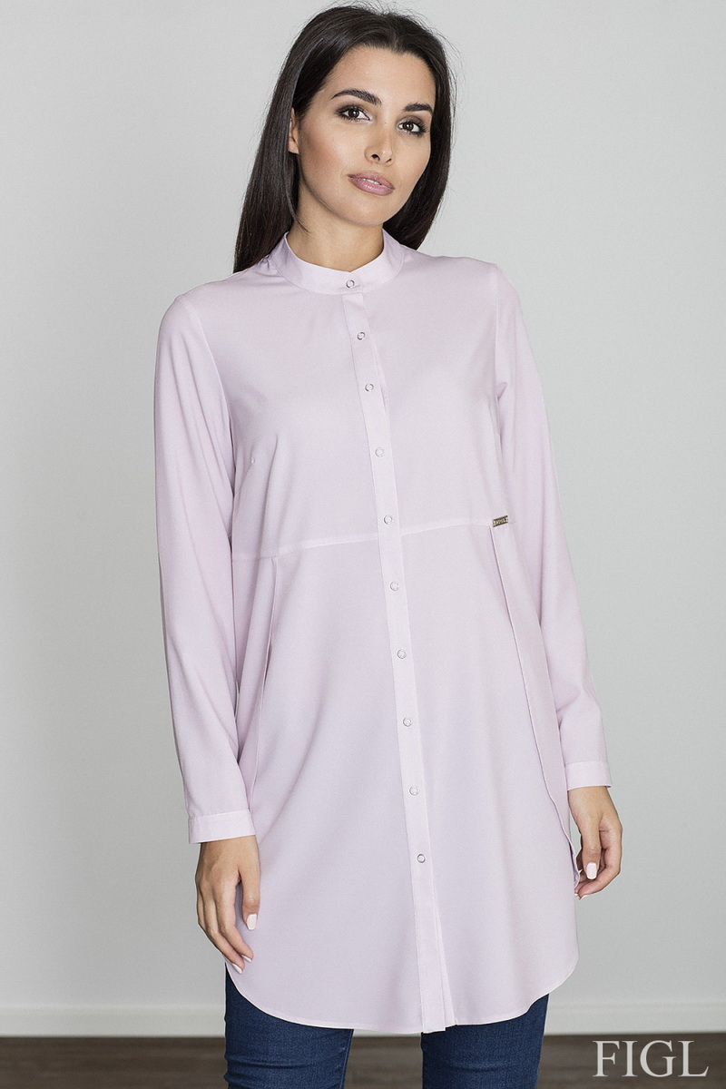 Dámská košile Figl M545 růžová (velikost S)