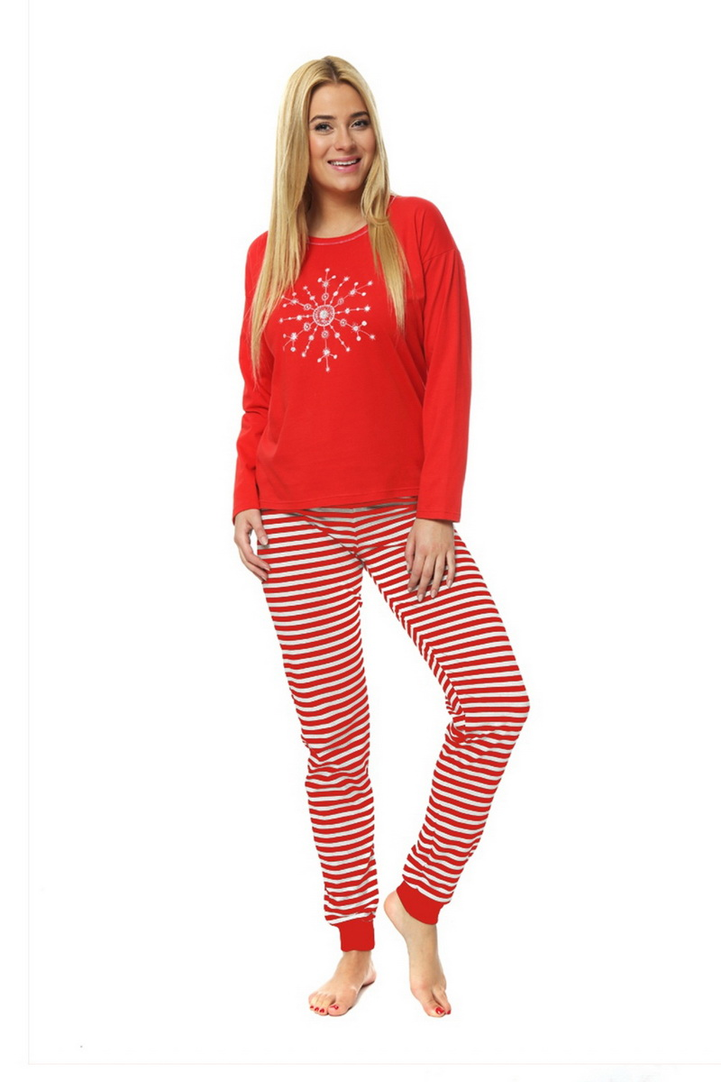 Dámské pyžamo Italian Fashion Snowflake červené (velikost L)