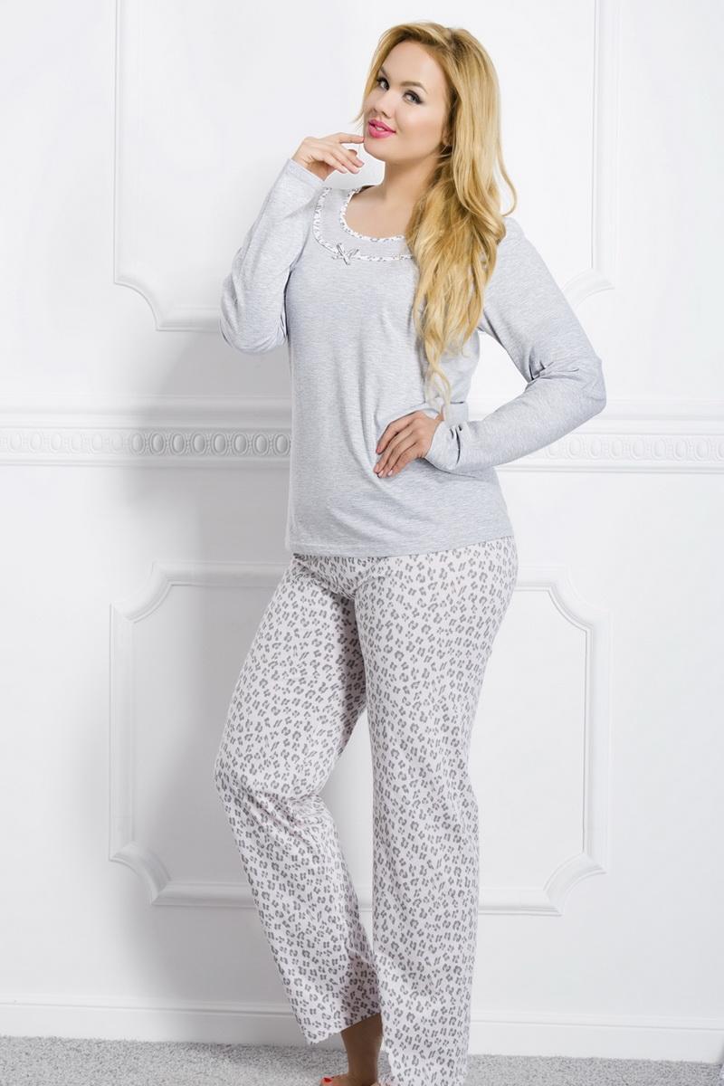 Dámské pyžamo Taro Ismena 1042 šedé (velikost XXXL)