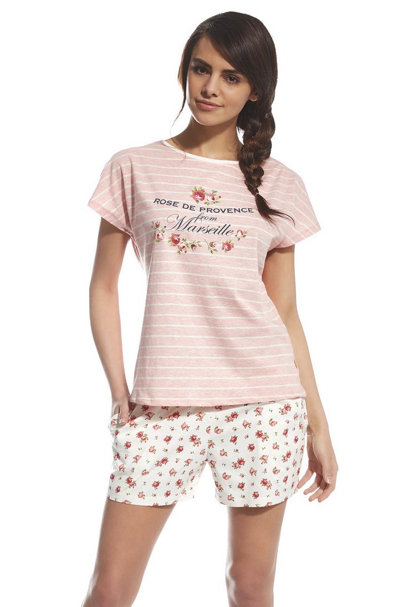 Dámské pyžamo Cornette 053101 Provence 2 růžové (velikost L)