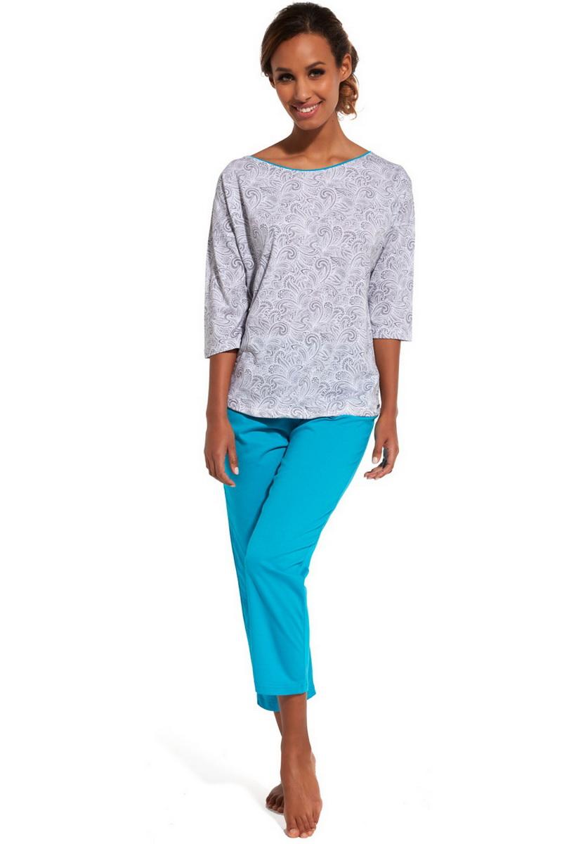 Dámské pyžamo Cornette 147141 Cleo šedé (velikost M)