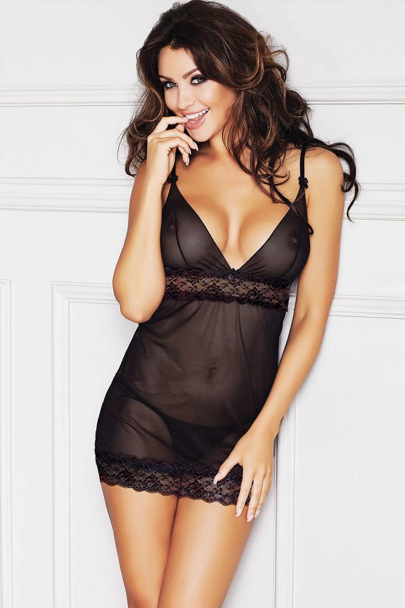 Erotická košilka Anais Alma černá (velikost XXXL)