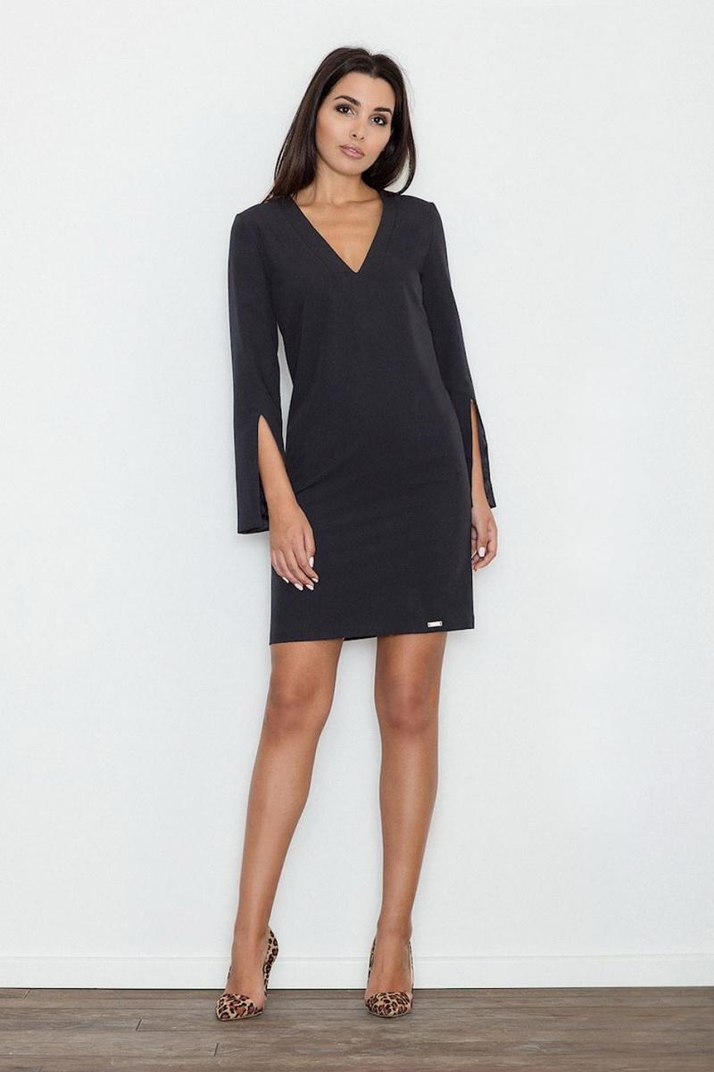 Dámské šaty Figl M550 černé (velikost S)