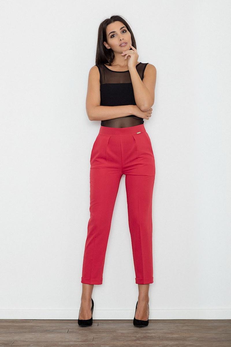 Dámské kalhoty Figl M552 červené (velikost S)