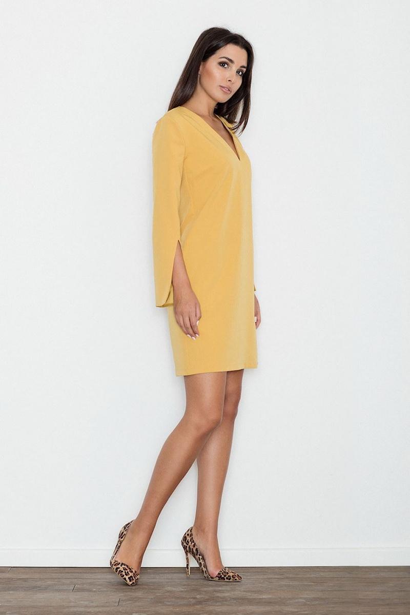 Dámské šaty Figl M550 žluté (velikost S)