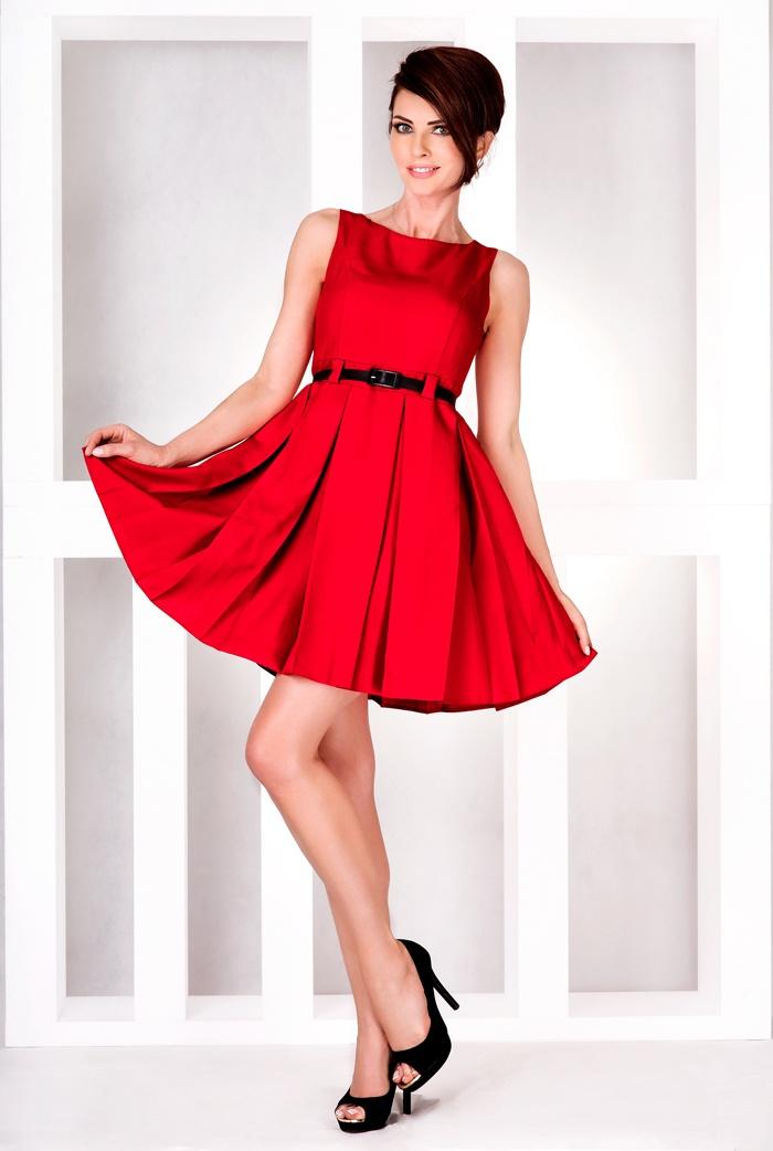Dámské šaty Numoco 6-11 červené (velikost XL)