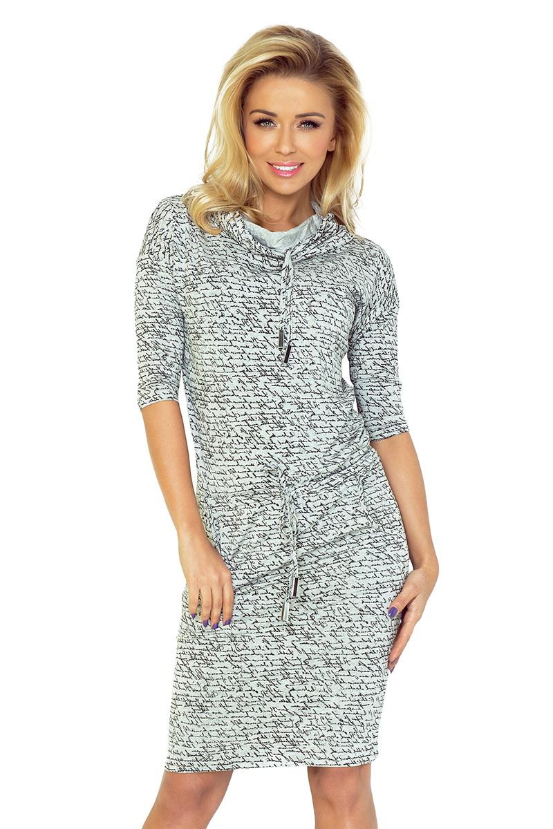 Dámské šaty Numoco 44-4 černo-šedé (velikost XL)