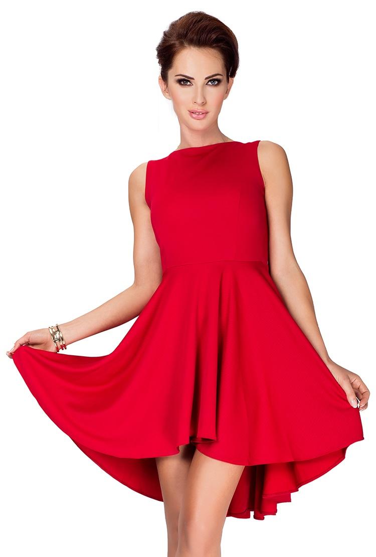 Dámské šaty Numoco 33-2 červené (velikost XL)