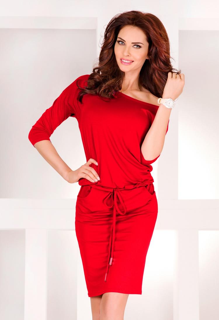 Dámské šaty Numoco 13-17 červené (velikost XL)