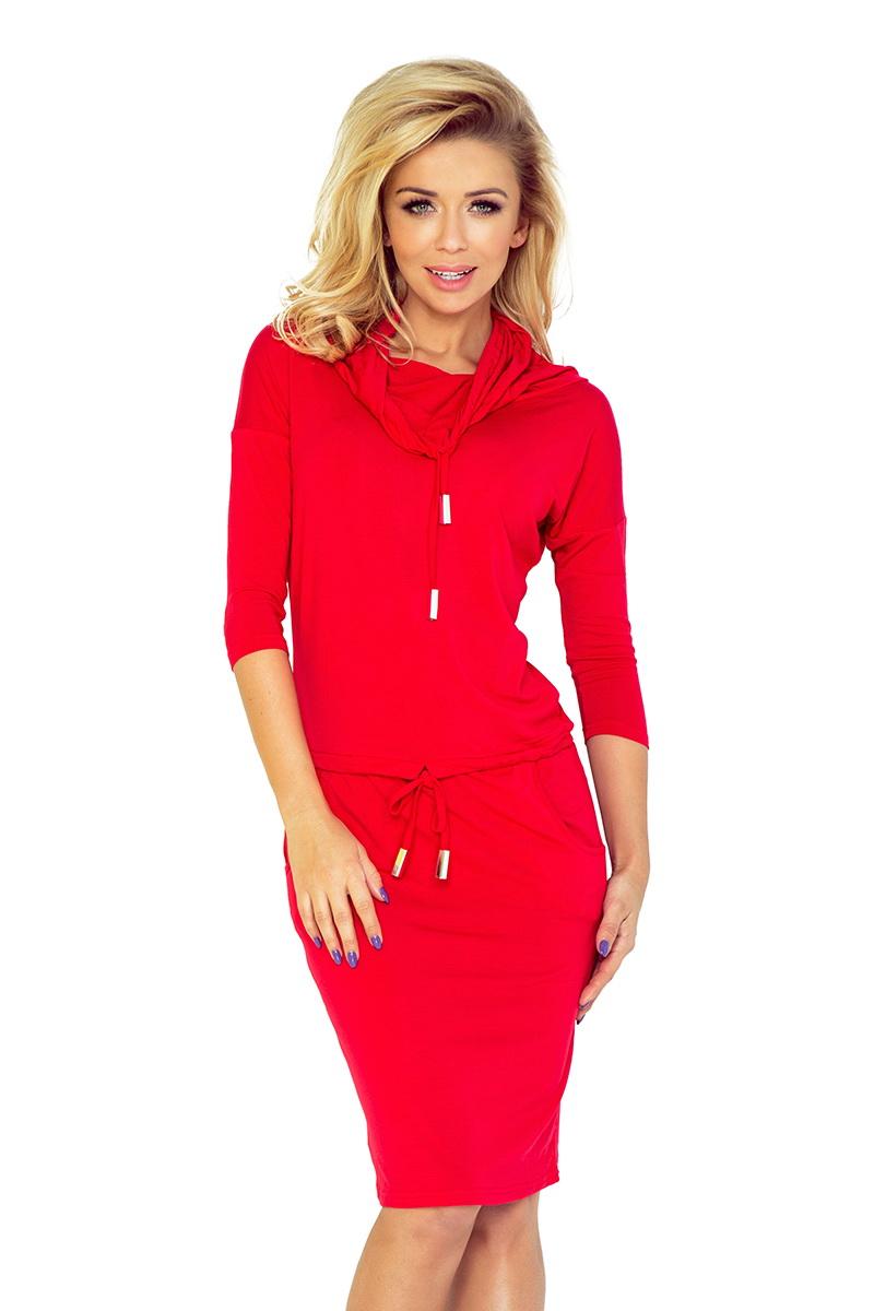 Dámské šaty Numoco 44-13 červené (velikost XL)