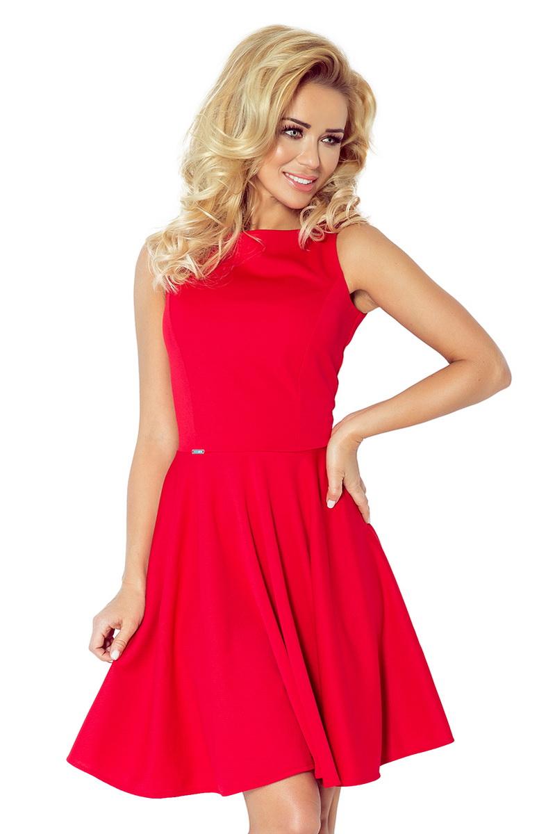 Dámské šaty Numoco 98-2 červené (velikost XL)
