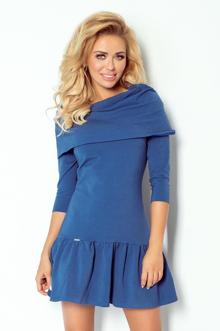Dámské šaty Numoco 108-2 džínové (velikost M)