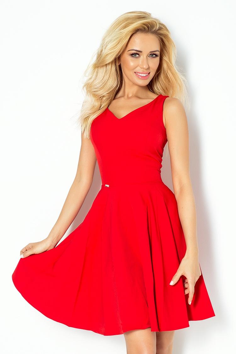 Dámské šaty Numoco 114-3 červené (velikost XL)