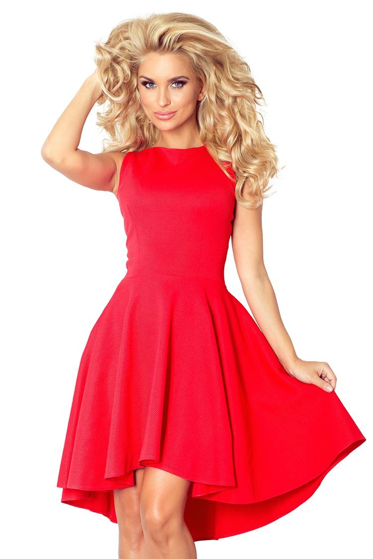 Dámské šaty Numoco 66-12 červené (velikost XL)