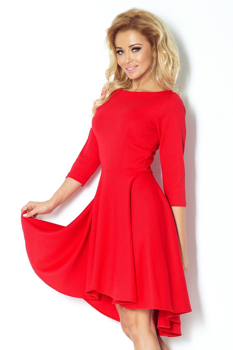 Dámské šaty Numoco 90-4 červené (velikost XL)