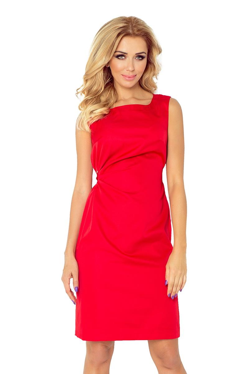 Dámské šaty Numoco 126-5 červené (velikost XL)
