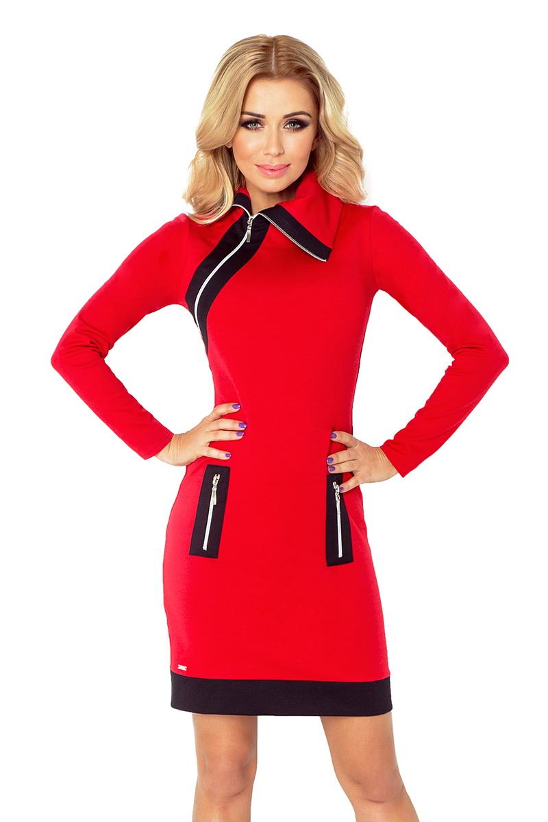 Dámské šaty Numoco 129-3 červené (velikost XL)
