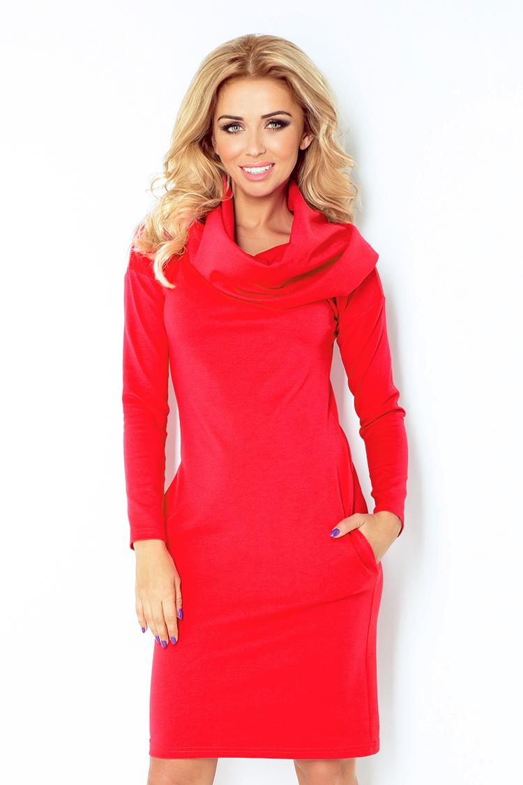 Dámské šaty Numoco 131-4 červené (velikost XXL)