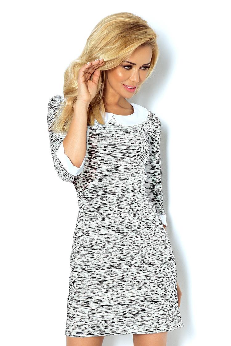 Dámské šaty Numoco 111-3 černo-bílé (velikost S)