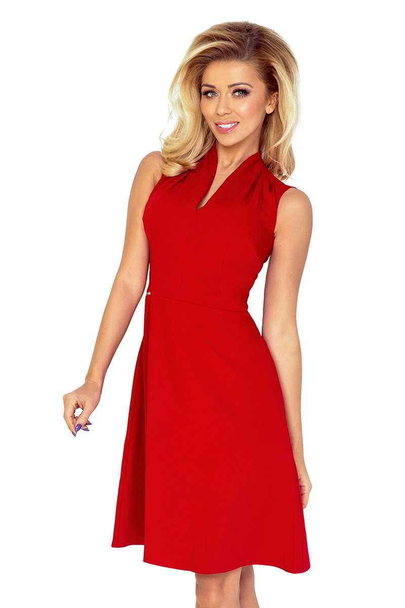 Dámské šaty Numoco 133-3 červené (velikost XL)