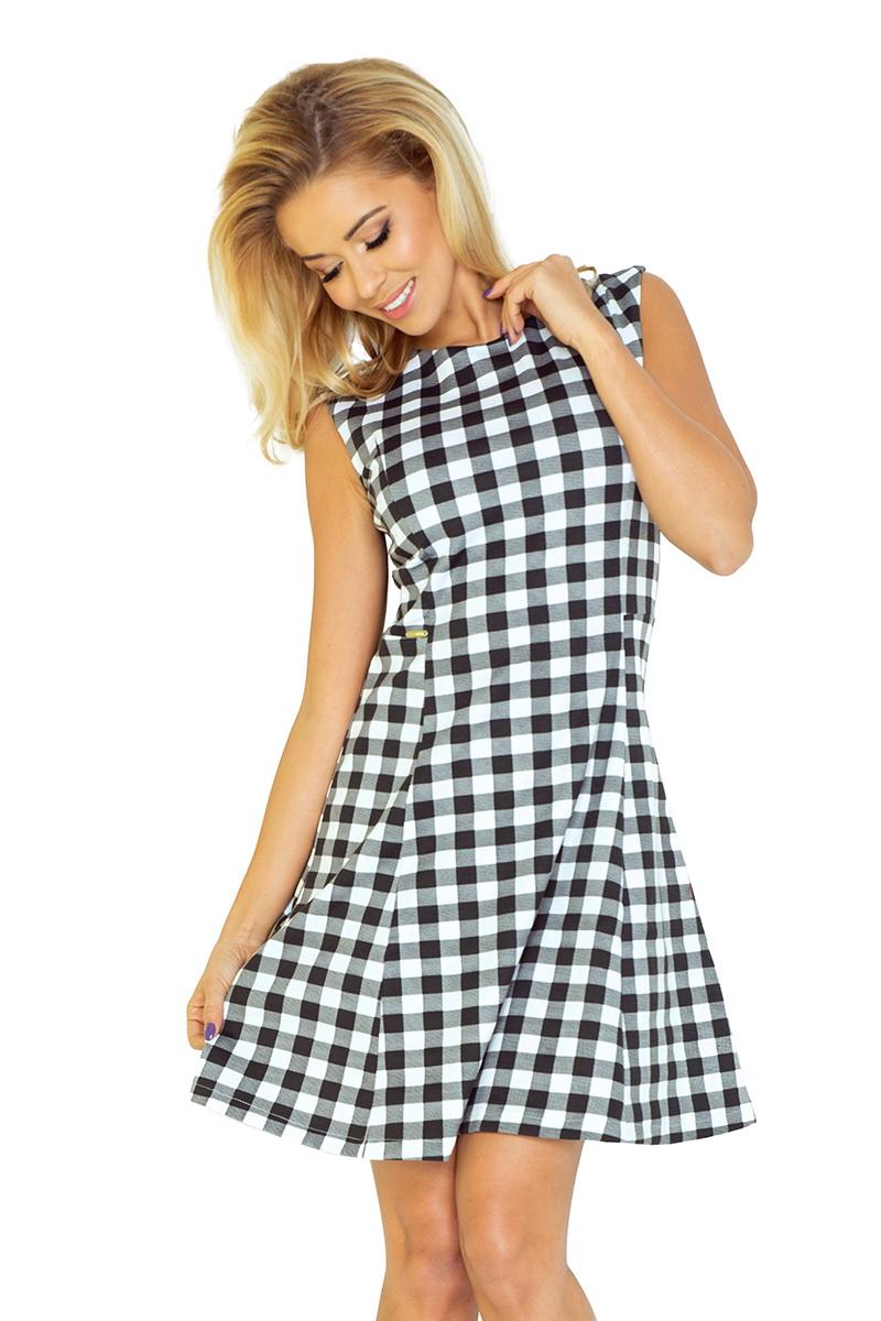 Dámské šaty Numoco 137-4 černo-bílé (velikost XXL)
