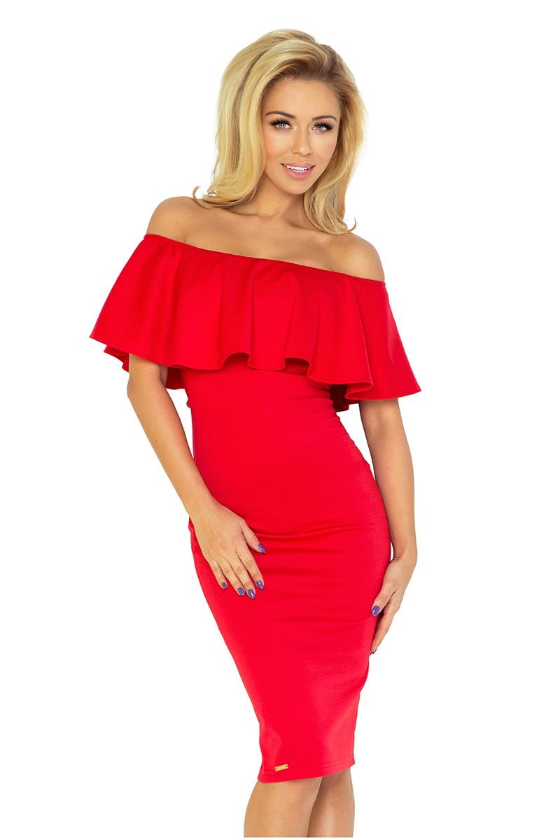 Dámské šaty Numoco 138-2 červené (velikost XL)