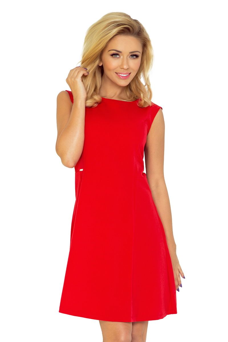 Dámské šaty Numoco 137-2 červené (velikost XL)
