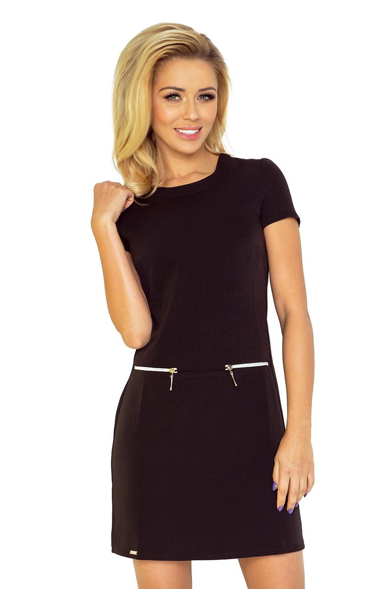 Dámské šaty Numoco 134-1 černé (velikost S)