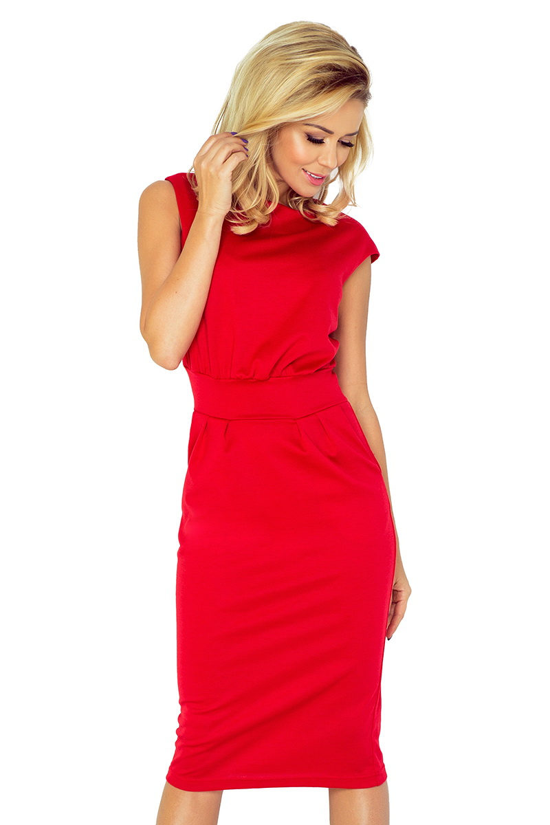 Dámské šaty Numoco 144-2 červené (velikost XL)
